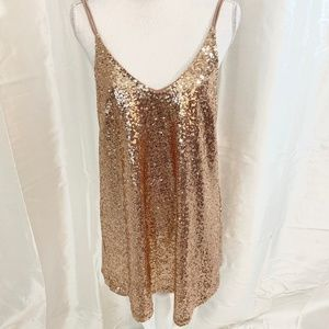 GORGEOUS  SEQUINED MINI DRESS  HOLIDAYS/COCTAIL  M